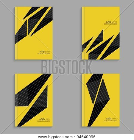 Set covers for magazine of black stripes on yellow.