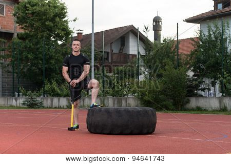 Healthy Young Man Resting After Exercise