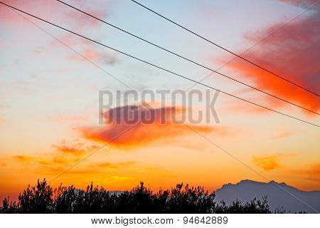 Mountain In Morocco Africa   Current Cables     Sunrise