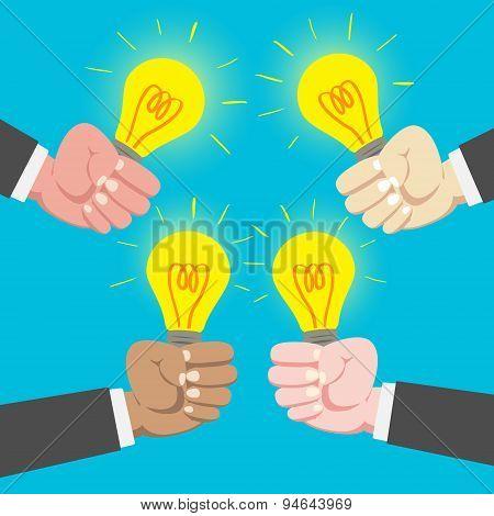 International Businessman Sharing Idea