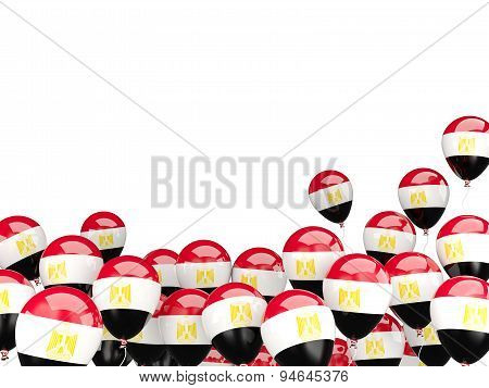 Flying Balloons With Flag Of Egypt