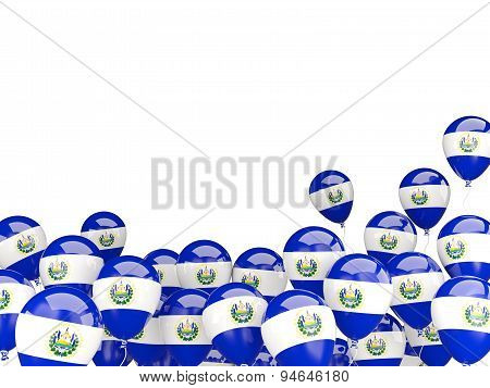 Flying Balloons With Flag Of El Salvador