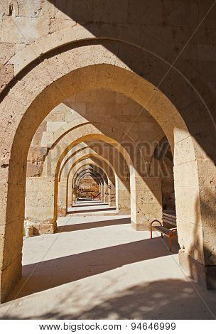 Gallery of the Sultanhani caravansary on the Silk Road - Turkey