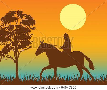 Horseman on
