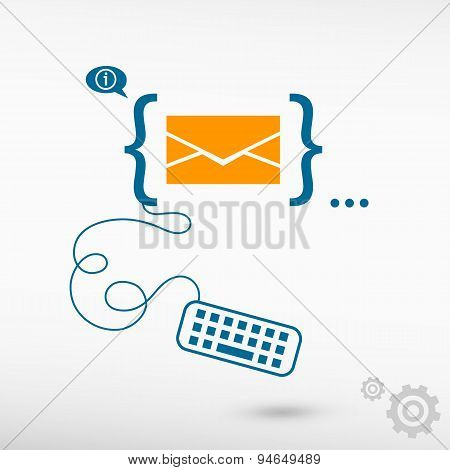 Envelope Icon And Flat Design Elements