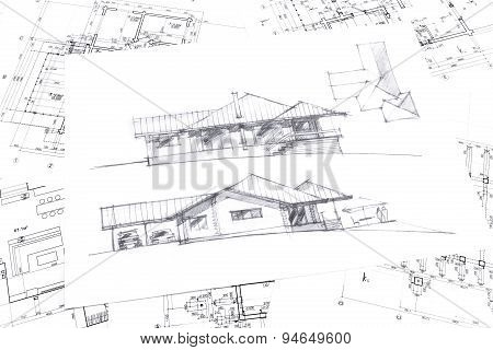 Graphical Sketch Of New House
