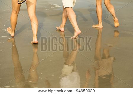 Beach Walk Reflection