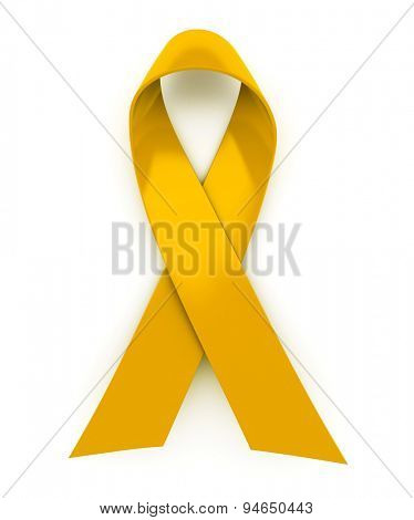 Shiny yellow ribbon