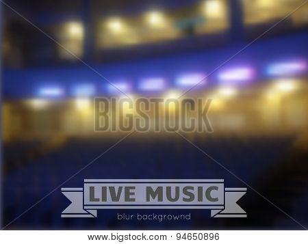 Live Music Conctrt Blur Background