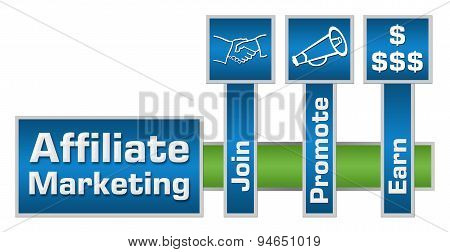 Affiliate Marketing Green Blue Layout