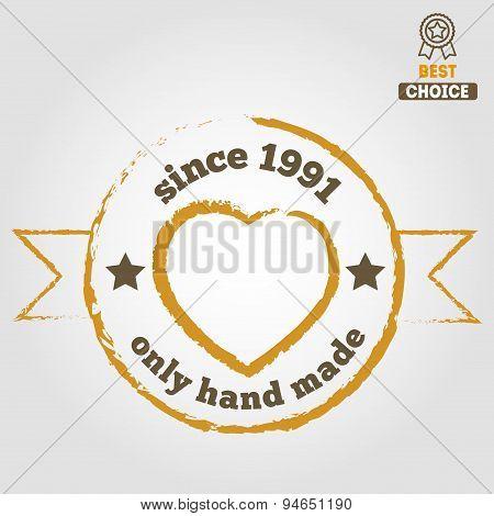 Vintage retro handmade badges, labels and logo elements, symbols