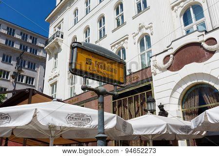 Subway Entrance Of Budapest