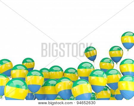 Flying Balloons With Flag Of Gabon
