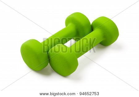 Two Green Dumbbell