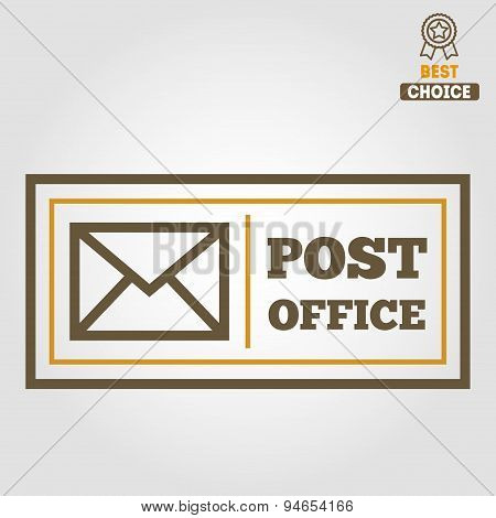 Vintage logo, badge, emblem or logotype elements for post office and other design
