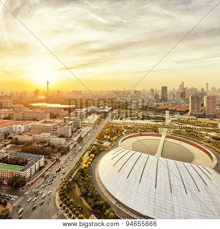 Tianjin,China-May 21,2015:Panoramic skyline and modern buildings of tianjin