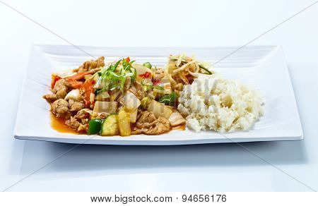Stewed Meat With Vegetables .  Korean Cuisine.