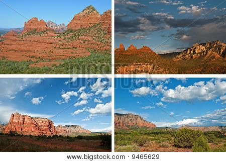 Scenic Red Sandstone Landscapes From Sedona