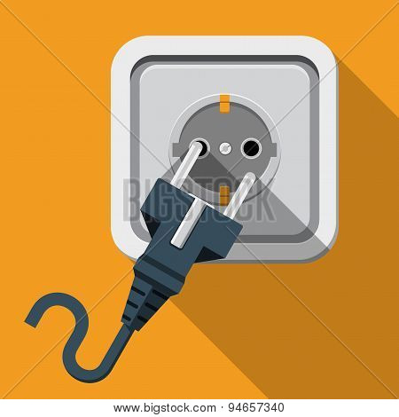 Plug and Socket. Electricity