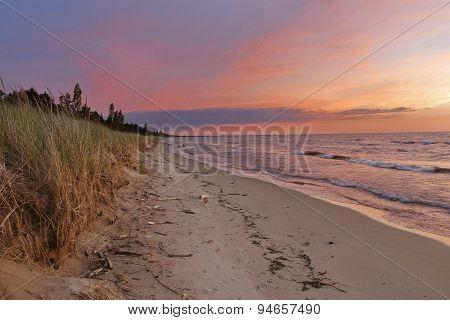 Sunset On A Lake Huron Beach