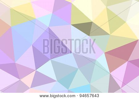 Abstract Geometric Background With Triangular Polygons