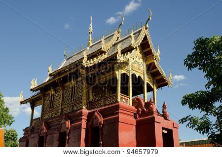 Beautiful Thai Lanna Hariphunchai temple
