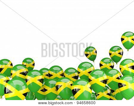 Flying Balloons With Flag Of Jamaica