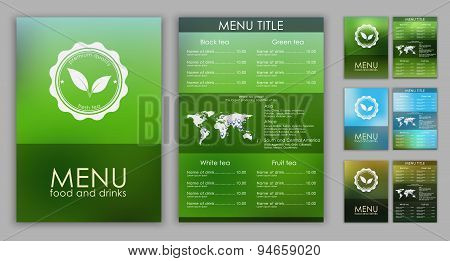 Design Of A Tea Menu With Blurred Background