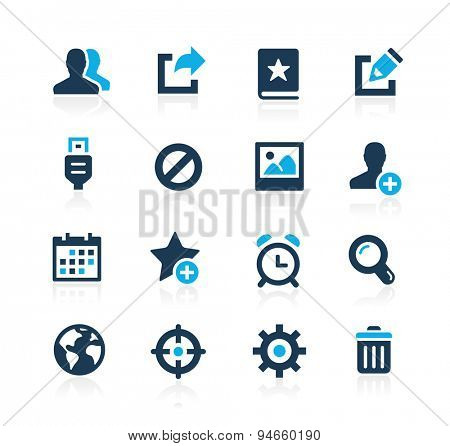 Communication Interface Icons // Azure Series