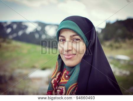 Beautiful Muslim woman with scarf