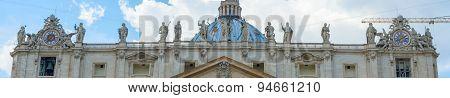 Saint Peter's Basilica In Rome, Italy.