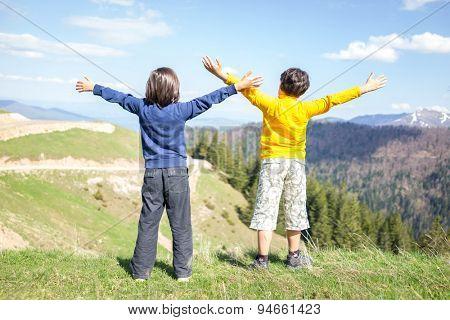 Kids enjoy in nature
