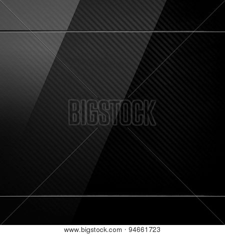glass on black metal background