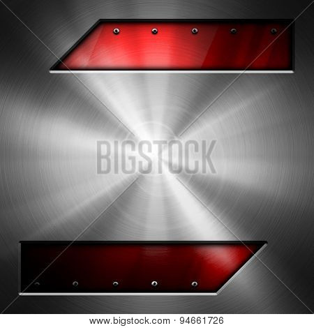 polished metal with glass background