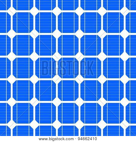 detailed illustration of a seamless photovoltaik solar cell pattern, eps10 vector