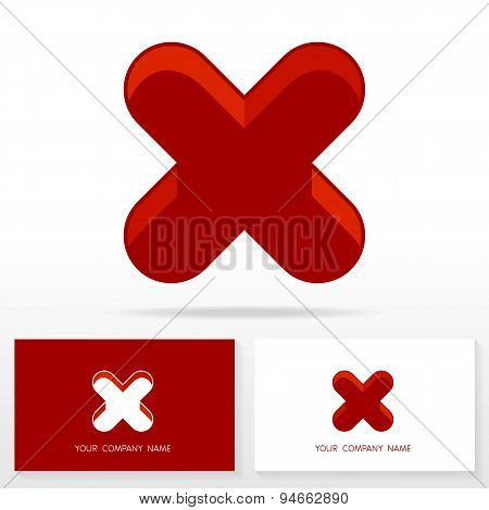 Letter X logo or icon design template elements - Vector Illustration.