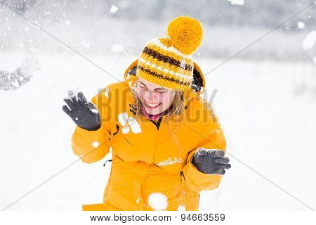 People Having Fun Winter