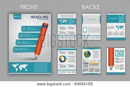 Flyer Design With Elements Of Infographics