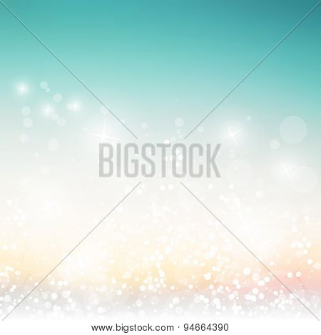 Sparkling Cover Design Template with Abstract, Blurred Background