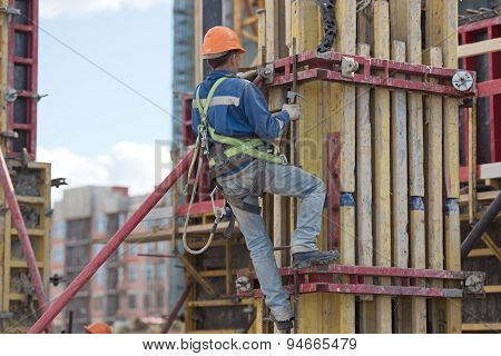 Form  Worker At Construction Site
