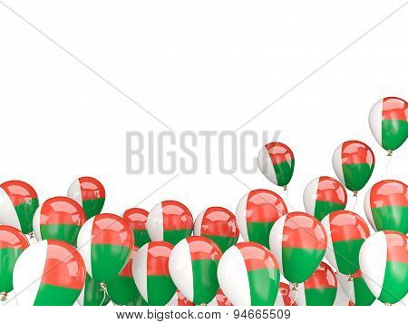 Flying Balloons With Flag Of Madagascar