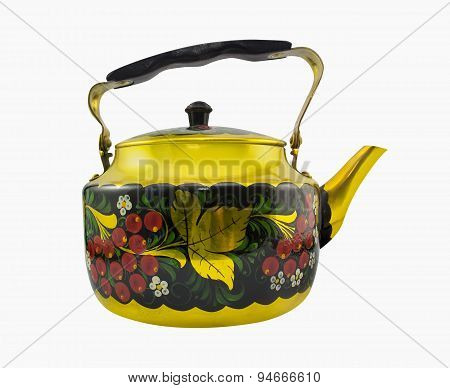 Isolated russian style kettle photo.