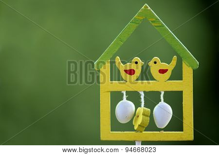 Bird house for easter decoration