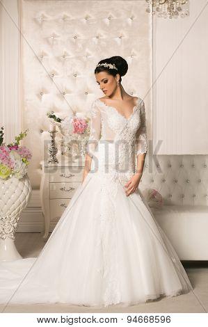 Beautiful Teenager In Wedding Dress