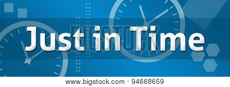 Just In Time Blue Background
