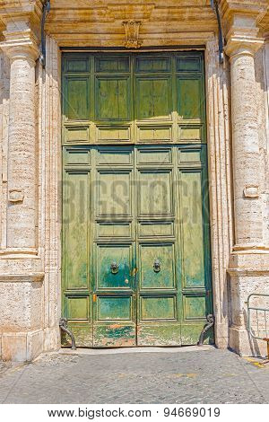 Entrance Door In Rome, Italy