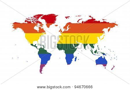 World Map Lgbt