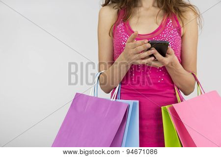 Shopping Woman With Smart Phone