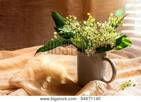 Still Life Bouquet White Lily Valley