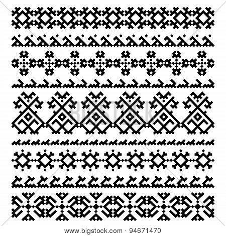 set of nine decorative ornament elements design